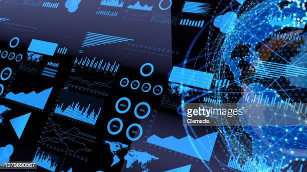 business trends concept chart and diagram - big data stock pictures, royalty-free photos & images