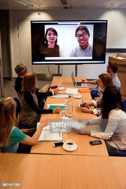 Business Video Conference in Progress