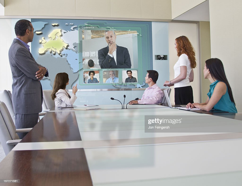 Business Video Conference Meeting : Foto de stock