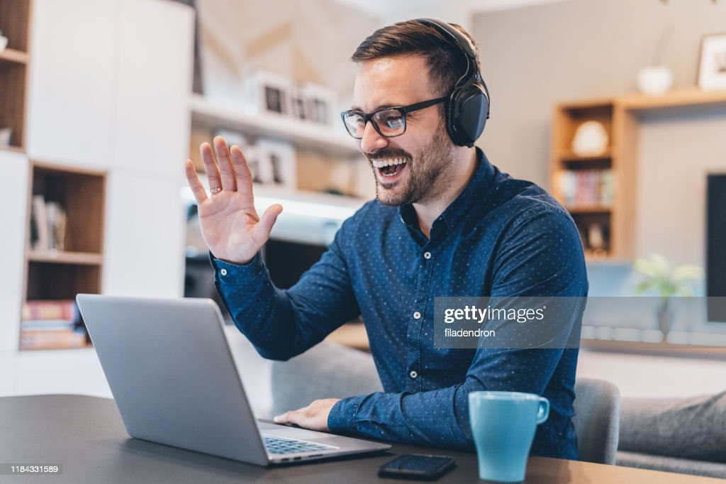 Business Video Conference : Stock Photo