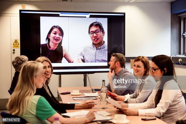 Business Video Conferencing in a Conference Room