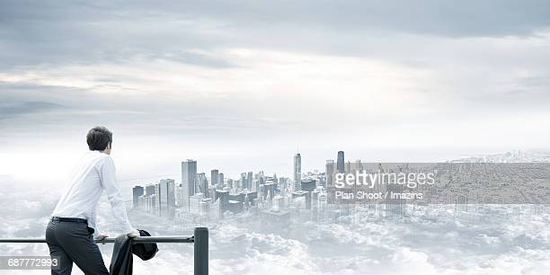 Business, view, city, vision