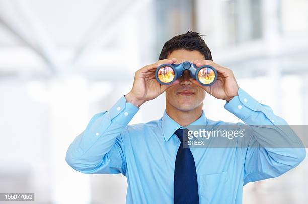 business vision - binoculars stock pictures, royalty-free photos & images