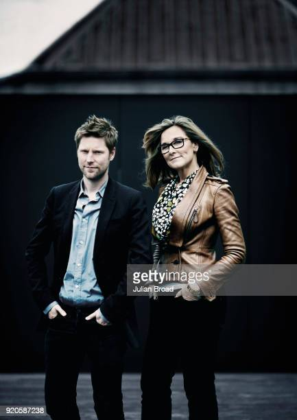 Business woman and Apple's Senior vice president of retail and online stores Angela Ahrendts is photographed with Christopher Bailey for Fast Company...