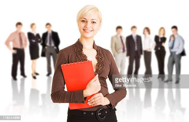 mujer de negocios y su equipo - representar fotografías e imágenes de stock