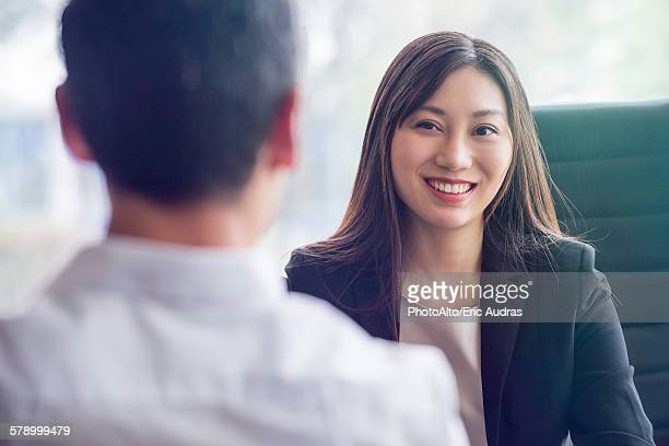 Business woman at job interview
