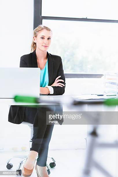 Business woman at the office.