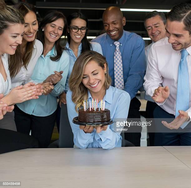 Mujer de negocios celebran