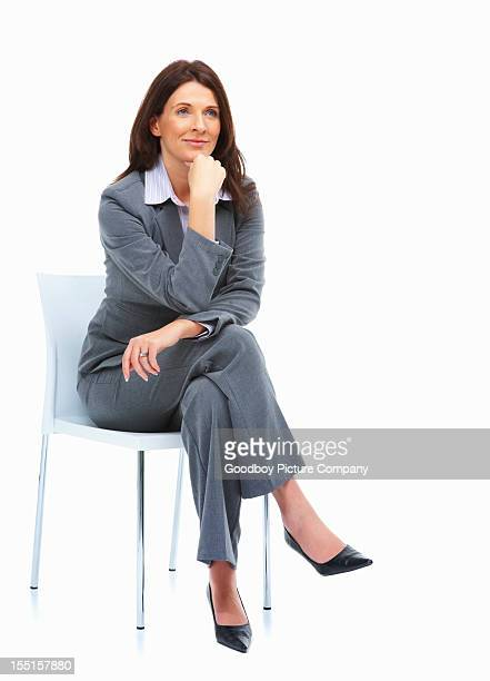 Business woman contemplating over ideas