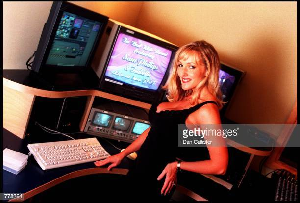 Business woman Danni Ashe poses in her office August 30 2000 in Culver City CA Ashe owns 'Danni Hard Drive' and is the host of the most downloaded...