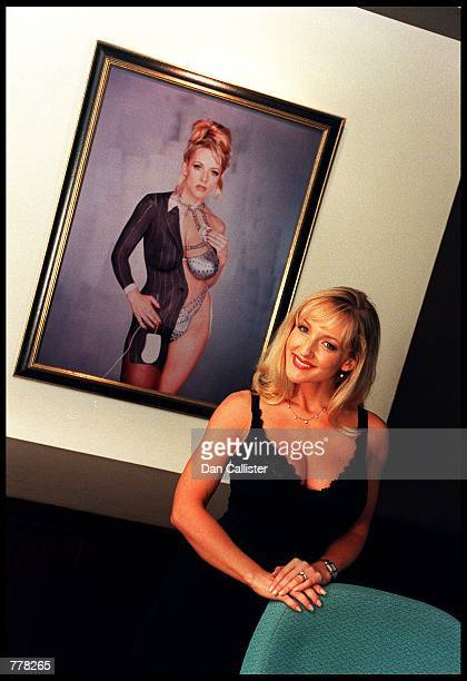 Business woman Danni Ashe poses in her office August 30 2000 in Culver City CA Ashe owns Danni Hard Drive and is the host of the most downloaded...