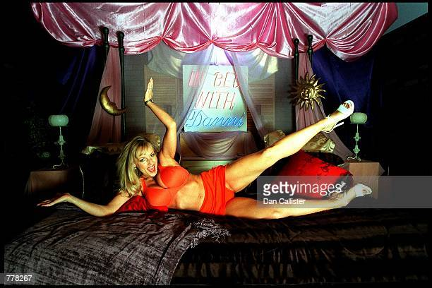 Business woman Danni Ashe poses on the set August 30 2000 in Culver City CA Ashe owns Danni Hard Drive and is the host of the most downloaded...