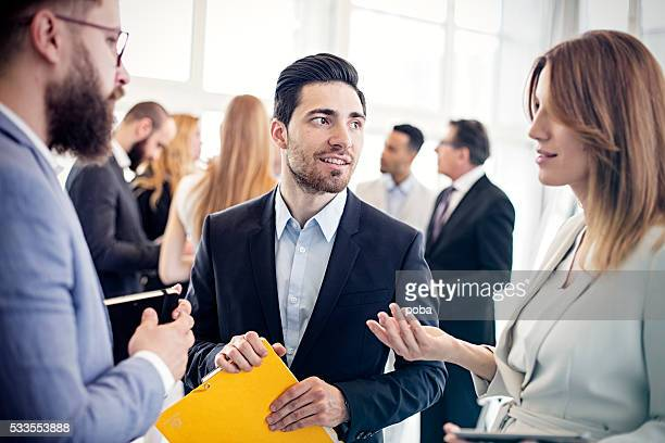 Business woman  discussing project with colleagues in office