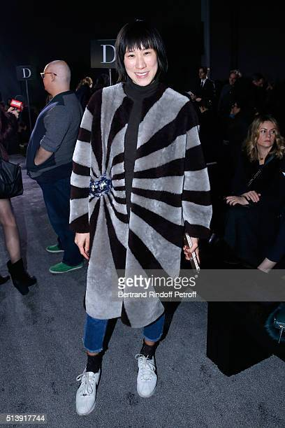 Business woman Eva Chen attends the Nina Ricci show as part of the Paris Fashion Week Womenswear Fall/Winter 2016/2017 on March 5, 2016 in Paris,...