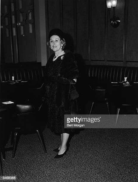 Business woman, executive, and beautician Estee Lauder at the Hotel Amsterdam, New York, New York, late 1960s.