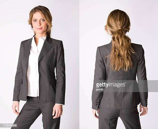 Business Woman front and back