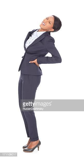 Business woman having backache.