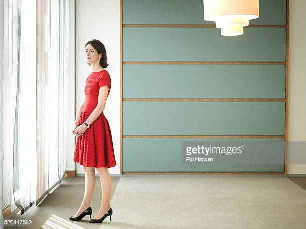 Business woman Helena Morrissey is photographed for Die Zeit on April 9 2015 in London England