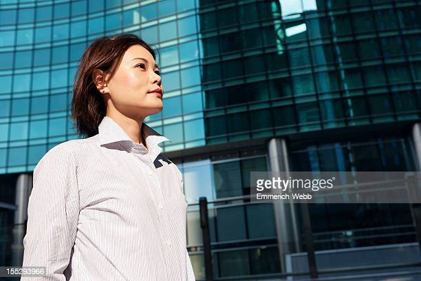 Business woman in cityscape