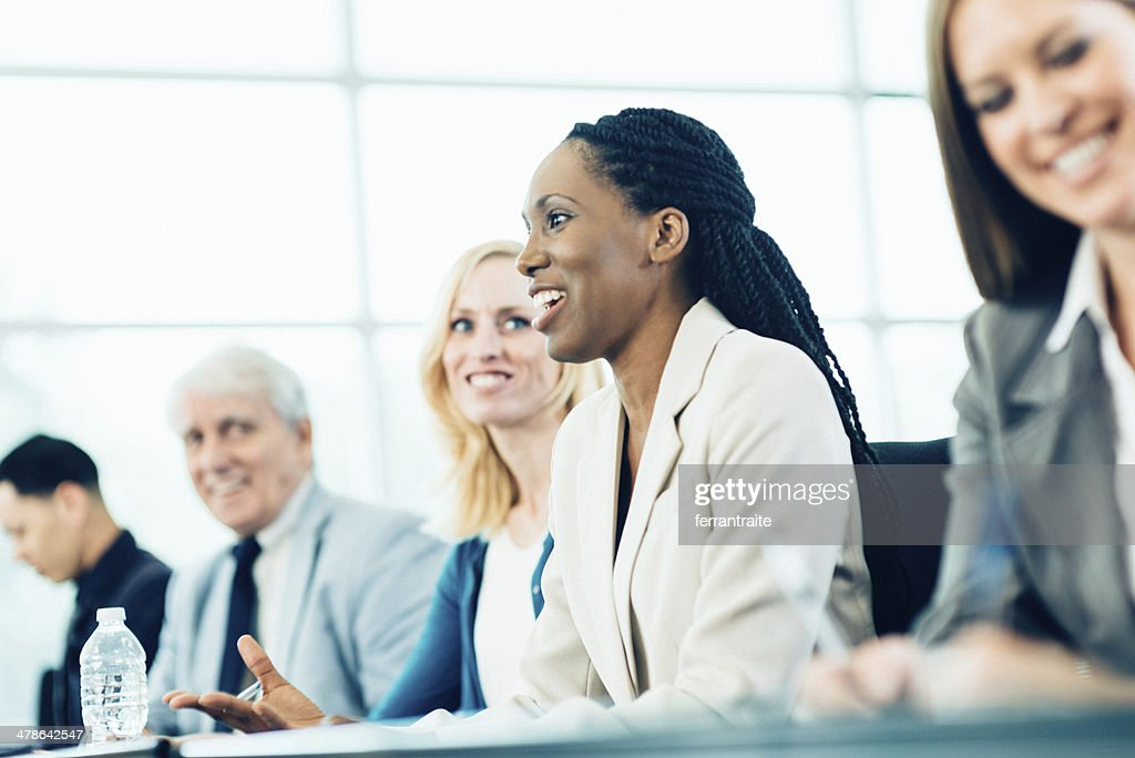 Business Woman in Conference : Stock Photo