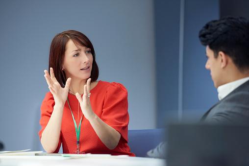 business woman in meeting - gettyimageskorea