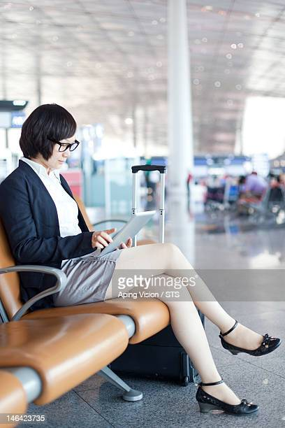 business woman in the airport
