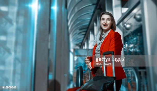 zakenvrouw in de luchthaven