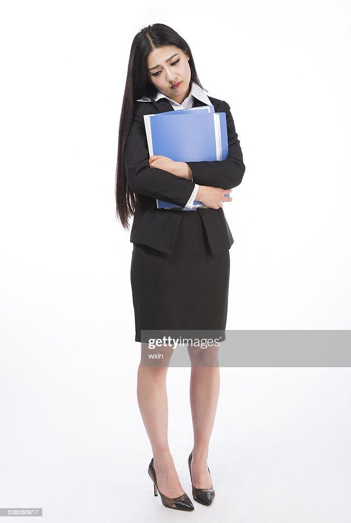 Femme d'affaires. Isolé sur fond blanc : Photo