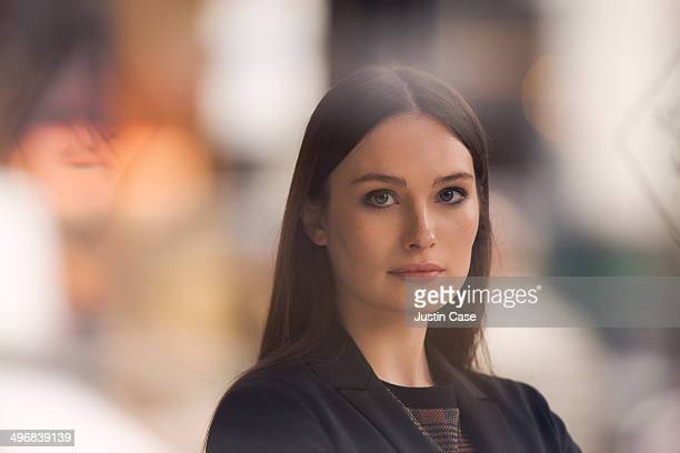 business woman looking at the camera