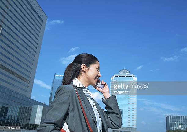 Business woman on cell-phone