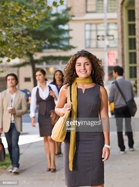 Business woman on street, portrait