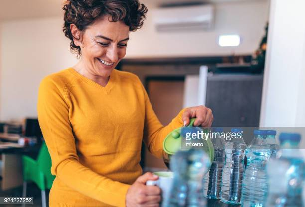 business woman on the coffee break - businesswear stock pictures, royalty-free photos & images