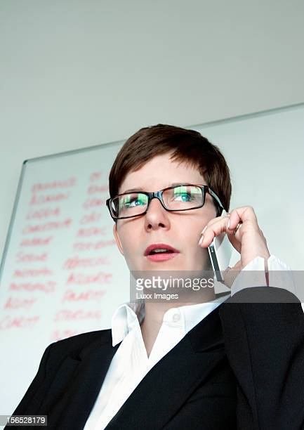 Business woman on the phone in meeting rooom