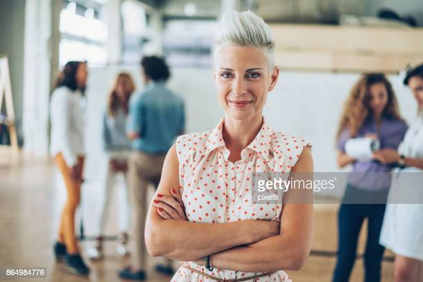 business woman - white hair stock pictures, royalty-free photos & images
