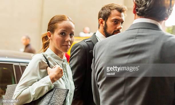 Business Woman Sideways Glance