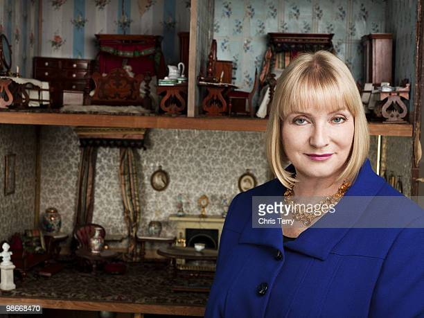 Business woman tv presenter Ruth Watson poses for a portrait shoot in London on February 10 2010