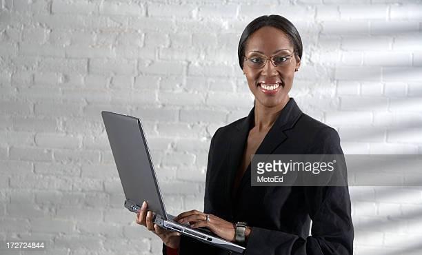 Business Woman using laptop.