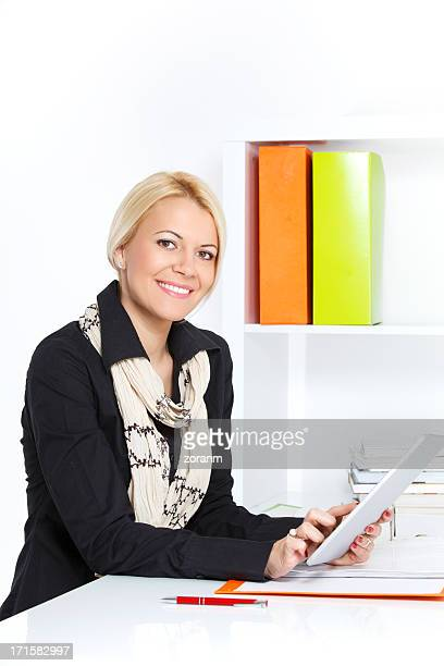 business woman using tablet pc