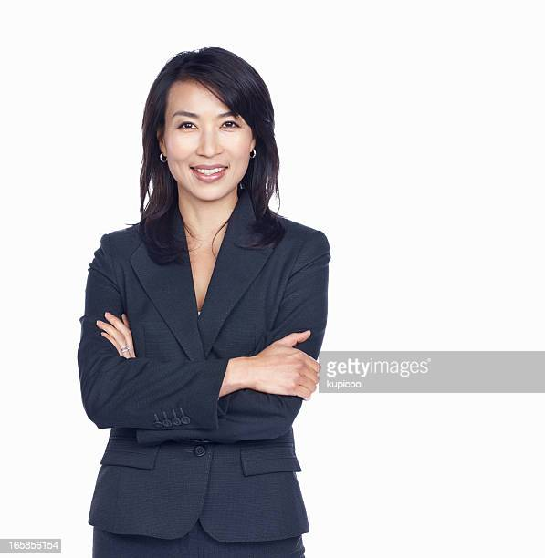business woman with arms crossed - asian and indian ethnicities stock pictures, royalty-free photos & images