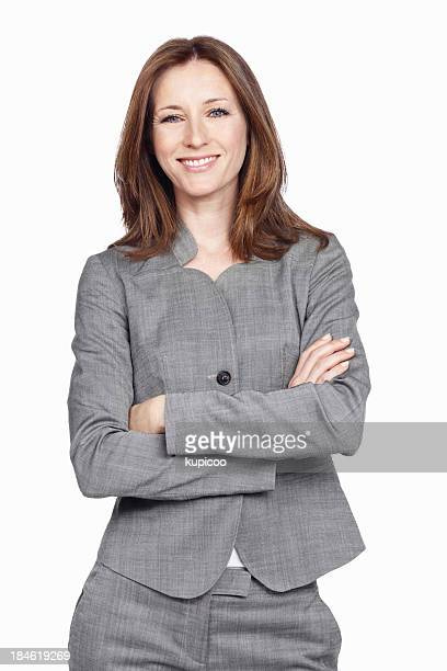 Business-Frau mit Arme verschränkt