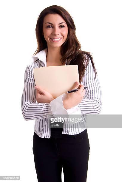 Business-Frau mit Ordner