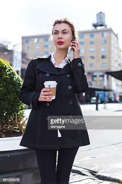 Business-Frau mit Handy