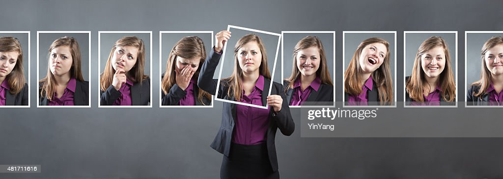 Business Woman with Various Personality, Character and Emotional Expressions : Stock Photo