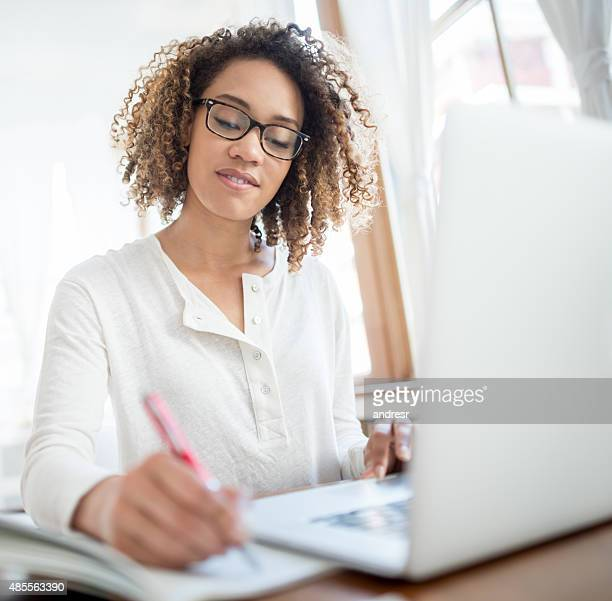 Business woman working as a freelance