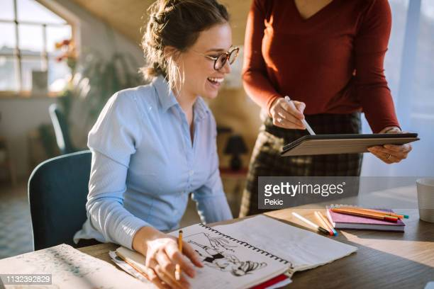business woman working at office, dealing with paperwork - illustrator stock photos and pictures
