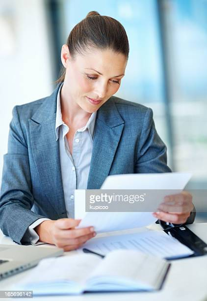 Business woman working at office desk