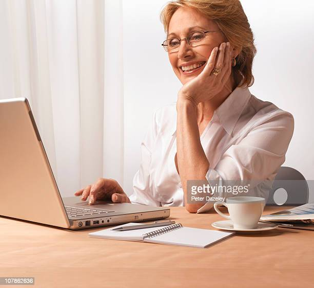 Business woman working from home