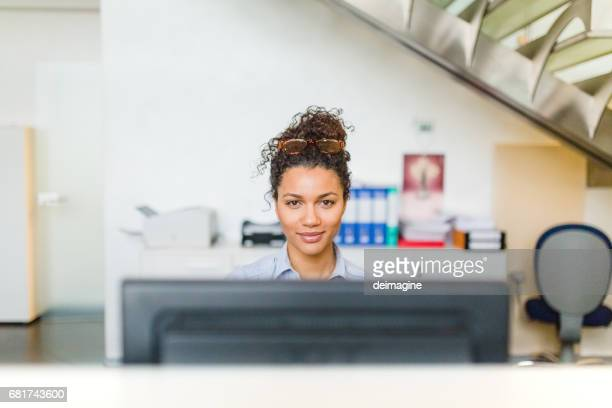 Business Woman working in Accounting office