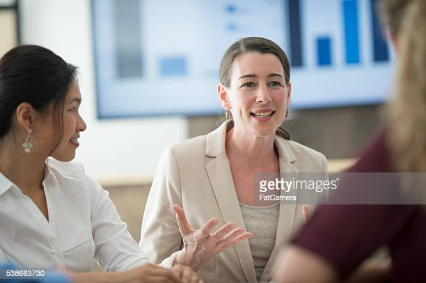 Business Women Discussing New Concepts