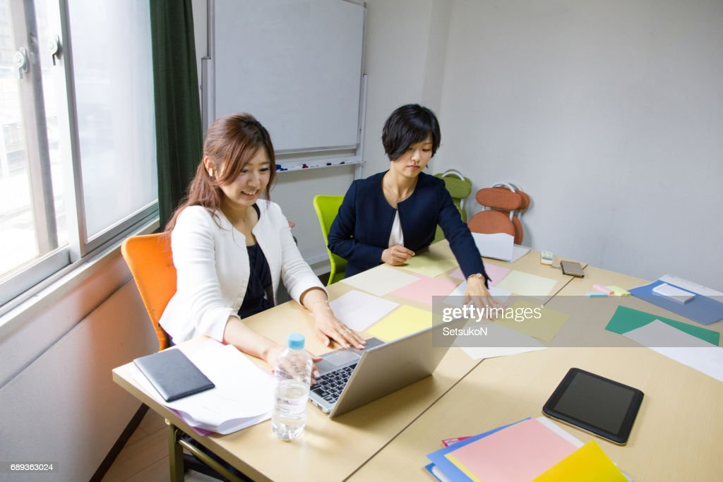 Business Women, Meeting Is About To Start : Stock Photo
